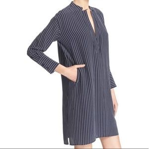 Equipment Blaine Silk Pinstripe Tunic Shift Dress